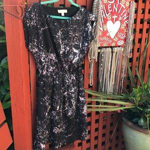Michael Kors black and white marbleized dress